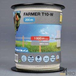 Ruban Farmer blanc 200m pour clôtures courtes