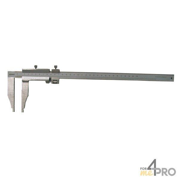 4mepro-pied à Coulisse Standard Inox 30 Cm à Bec Simple - Hauteur Bec 90 Mm