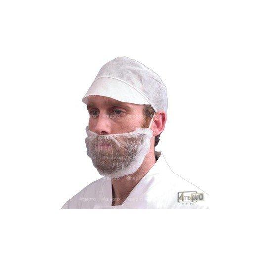Masque cache barbe blanc en polypropylène