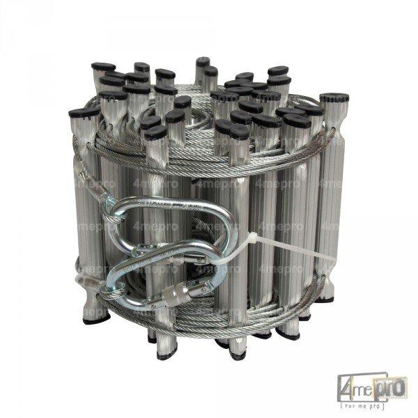 echelle de c ble en acier galvanis 10 m 4mepro. Black Bedroom Furniture Sets. Home Design Ideas
