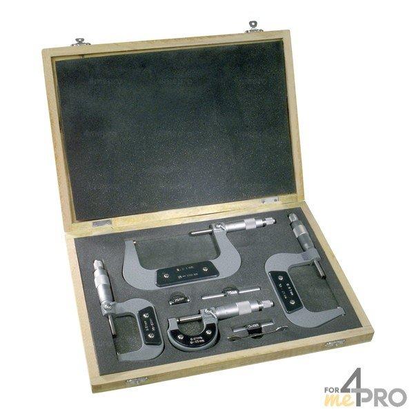 4mepro-coffret De 6 Micromètres Extérieurs
