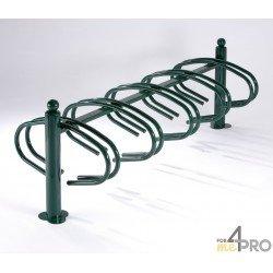 Râtelier New York galvanisé vert 10 vélos