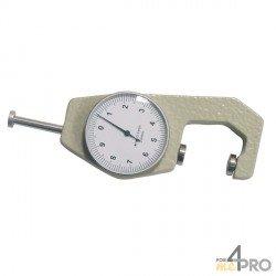 Calibre d'épaisseur à cadran 1/10 capacité 0-20 mm - profondeur 17 mm
