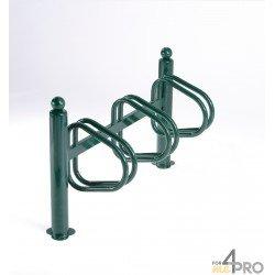 Râtelier New York galvanisé vert 3 vélos