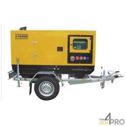 Remorque homologuée pour groupe électrogène de 8 à 32 kW
