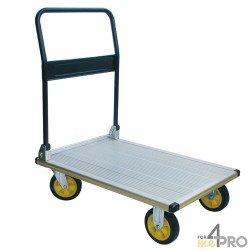 Chariot pliable métal 250 kg avec plateau aluminium