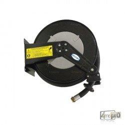 Enrouleur automatique fuel acier laqué fixe avec flexible