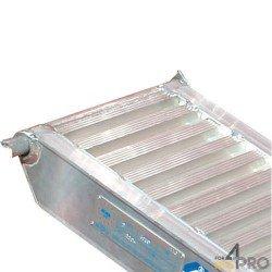 Rampe de chargement en aluminium avec bords