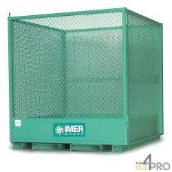 Cage sécurisée pour la manutention des palettes