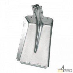Pelle en aluminium avec rebord