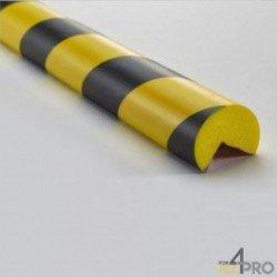 Boudin d'angle jaune et noir - 0,75 m