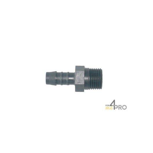 Raccord tuyau cannelé plastique 12 mm x 1/2