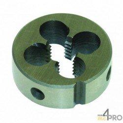 Filière ronde à cage fermée métrique HSS Co5% - norme DIN 233