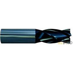 Fraise monobloc carbure K20 TIALN 4 dents - série courte
