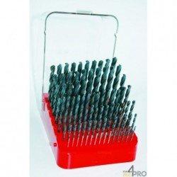 Coffret plastique de 91 forets HSS de 1 à 10 mm par 0,1