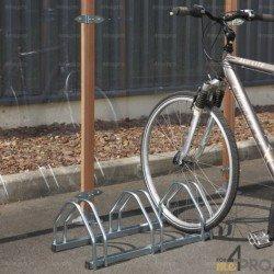 Râtelier au sol face à face - 3 ou 4 vélos