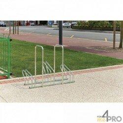 Range vélos sur 2 niveaux avec arceaux antivol