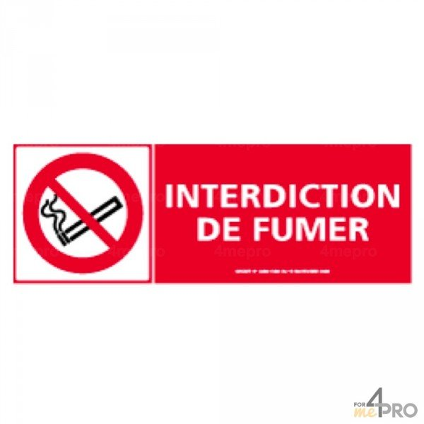 Panneau de signalisation vertical interdiction de fumer - Panneau signalisation interdiction ...