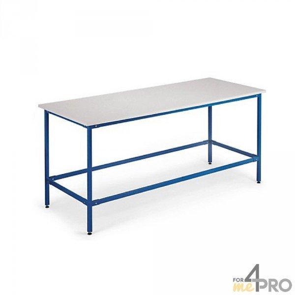 Table de travail r glable en hauteur 200 100 80 100 4mepro - Table de travail reglable en hauteur ...
