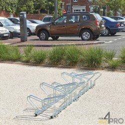 Râtelier vélo au sol face à face - 10 vélos