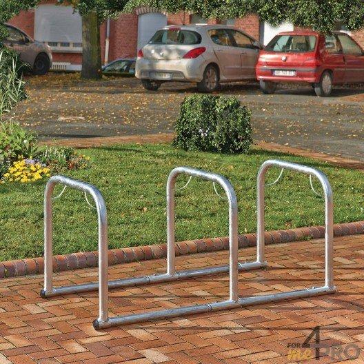 Support vélos en ligne 3 arceaux