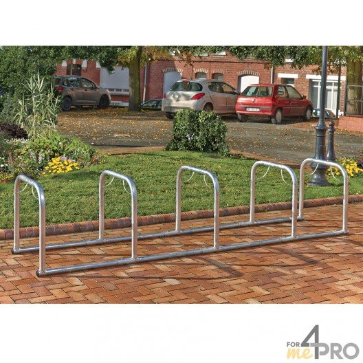 Support vélos en ligne 5 arceaux