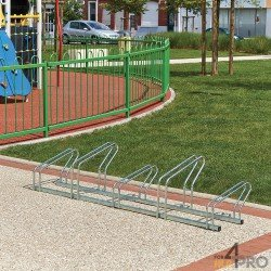 Râtelier au sol côte à côte 2 niveaux - 10 vélos