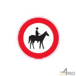 Panneau cavaliers et chevaux interdits 1