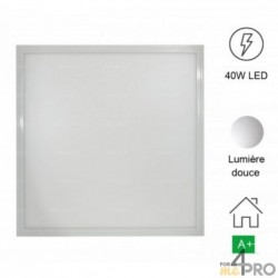 Dalle LED carrée extra plate 40 W - IP20 et IKO5