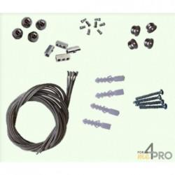 Kit 4 filins pour dalle LED carrée