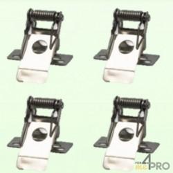 Clips charnière pour dalle LED carrée