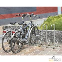 Râtelier au sol face à face avec 4 arceaux antivol - 5 vélos