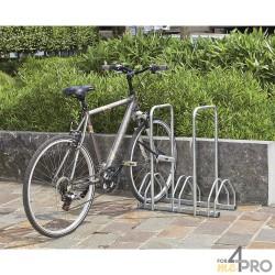 Râtelier au sol avec 2 arceaux antivol - 3 vélos