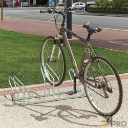 Râtelier vélo au sol 2 niveaux - 3 vélos