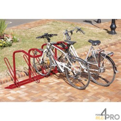 Range vélo pour antivol U - 4 vélos