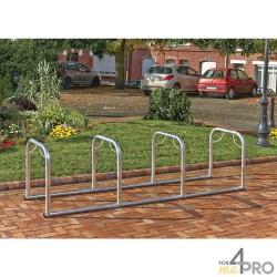 Support vélos en ligne 4 arceaux - 8 vélos