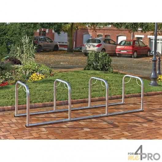 Support vélos en ligne 4 arceaux