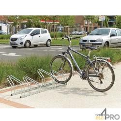 Râtelier au sol 2 niveaux côte à côte - 4, 6 ou 8 vélos