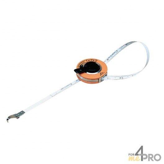 Circomètre boitier acier et skaï 5 m x 10 mm