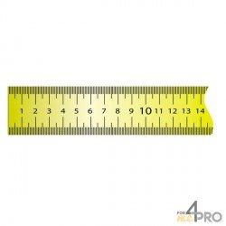 Ruban plat acier laqué jaune adhésif 2 m x 13 mm