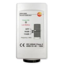 Calibrateur pour sonomètre Testo 815 et 816