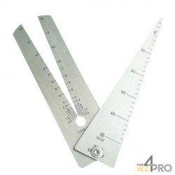 Jauge triangulaire 13 cm