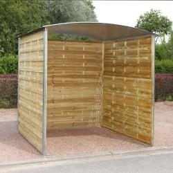 Abri extérieur 180 x 180 x 200 cm pour poubelles et vélos