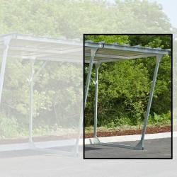 Extension pour abri galvanisé pour vélos, motos, scooters 4,4m²