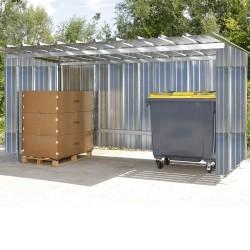 Abri extérieur 400 x 225 x 207 cm - côté en tôle galvanisée