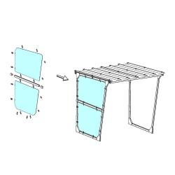 Bardage latéral gauche ou droit en plexiglass
