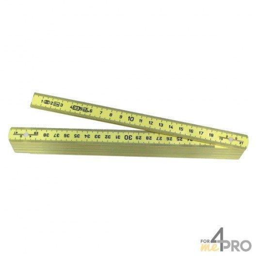 Mètre pliant jaune 10 branches - 2m