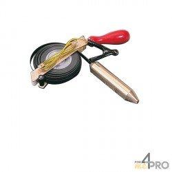 Mesure sonde spécial produits corrosifs ruban inox noir 20m x 13mm