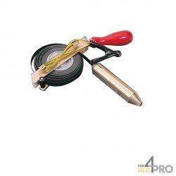 Mesure sonde spécial produits corrosifs ruban inox noir 30m x 13mm