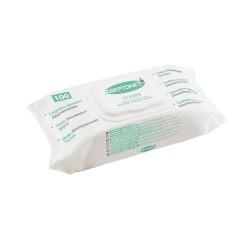 Lingette nettoyante et désinfectante prédécoupée FlowPack